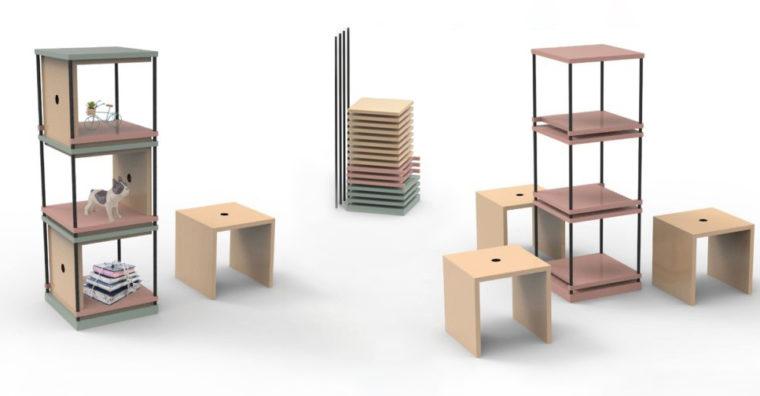 Illustration de l'article «COLOC ET CIE» 1 meuble, 2 fonctions, 3 personnes