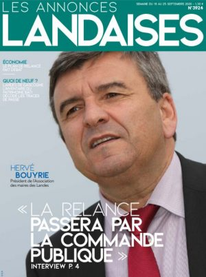Couverture du journal du 19/09/2020